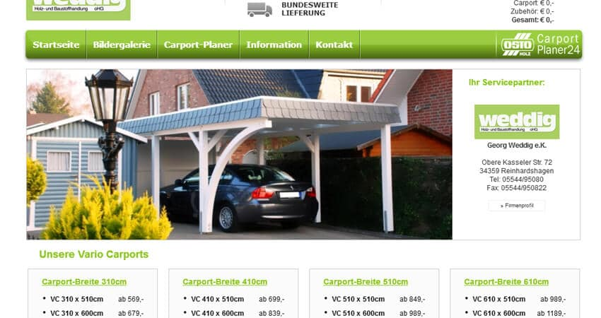 Carport Planer Georg Weddig E K
